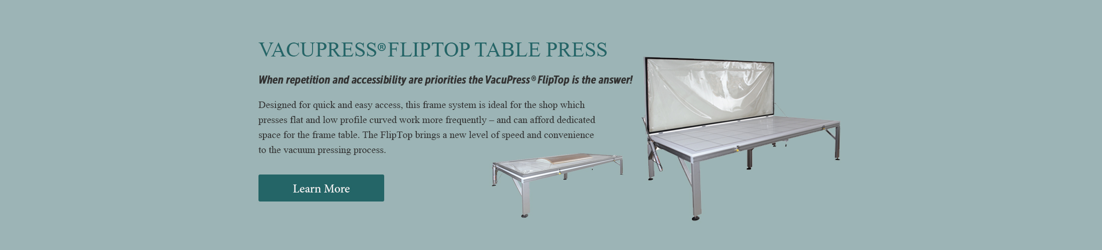 vacupress fliptop table press